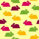 Seamless background with funny bunnies Stock Photography