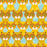 Seamless background with funny cats on blue background. Vector Royalty Free Stock Images