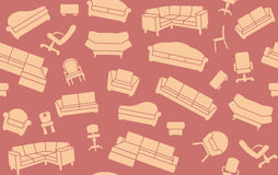 Seamless background of furniture for sitting Royalty Free Stock Photo
