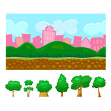 Seamless background for game,  vector illustration Royalty Free Stock Photo