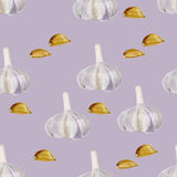 Seamless background garlic Royalty Free Stock Photos