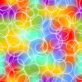 Seamless background in gaudy colors with white swirls Stock Photos