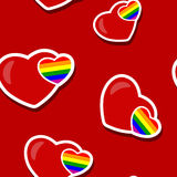 Seamless background with Gays icons Royalty Free Stock Photo