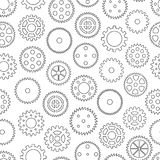Seamless background with gear wheels Stock Photo