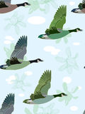 Seamless background with geese Royalty Free Stock Photos