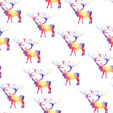 Seamless background with geometric deer Royalty Free Stock Image