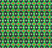 Seamless background of geometric ornament with green octagons Stock Photos