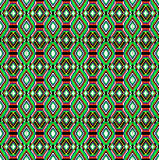 Seamless background of geometric ornament with green stripes an Stock Image