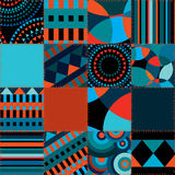 Seamless background of geometric patchwork vector illustration