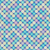 Seamless background with geometric pattern in cool tones. Seamless pattern in cold tones of the elements in the form of squares, divided into four parts, on a Stock Photography