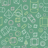 Seamless background with geometric pattern. EPS,JPG. Seamless background with geometric pattern. Geometric figures on a green school board background. Seamless Royalty Free Stock Photography