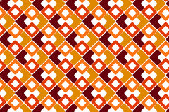 Seamless Background with Geometric Pattern. Seamles white background with yellow, orange and auburn rounded-corner square pattern Stock Images