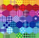 Seamless background 46 geometric patterns Stock Image