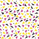 Seamless background from geometric shapes. Triangles of different sizes and shades of color. Texture seamless Stock Images