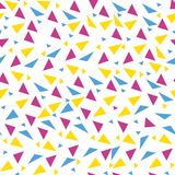 Seamless background from geometric shapes. Triangles of different sizes and shades of color. Texture seamless Stock Photo