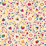 Seamless background with geometrical figures. Hand drawing. Vector illustration Royalty Free Stock Images