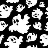 Seamless background with ghosts 1 Royalty Free Stock Photos