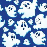 Seamless background with ghosts 3 Stock Image