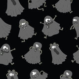 Seamless background with ghosts Royalty Free Stock Photos