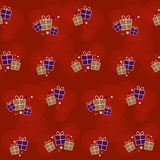 Seamless Background with gift boxes Royalty Free Stock Photography