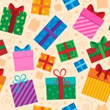 Seamless background gift theme  Royalty Free Stock Image