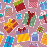 Seamless background gift theme  Royalty Free Stock Photo