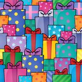 Seamless background gift theme 5 Stock Photos