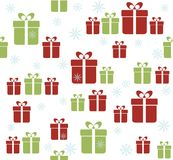 Seamless background with gifts. Christmas background with gift boxes Stock Image