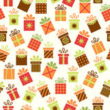Seamless background with gifts Royalty Free Stock Image