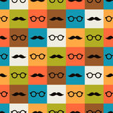 Seamless background of glasses and mustache Royalty Free Stock Images