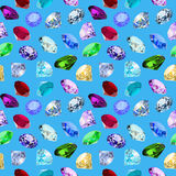 Seamless background with glittering precious stones Stock Photography