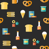 Seamless background on gluten products theme with Stock Images