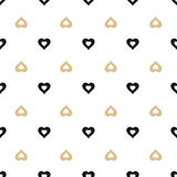 seamless background with gold and black hearts Royalty Free Stock Photography