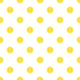 Seamless background gold coins. Stock Photos