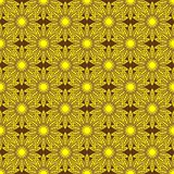 Seamless background with gold flowers vector illustration