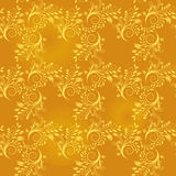 Seamless background of gold leaf Stock Images