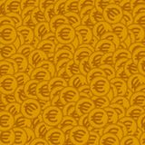 Seamless background with golden coins. Vector illustration.  Royalty Free Stock Image