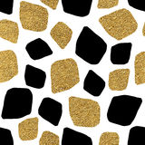 Seamless background of golden and silvern mosaic Stock Photos
