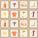 Seamless background with golf icons Royalty Free Stock Photography