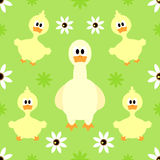 Seamless background  with goose Stock Images
