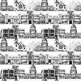 Seamless background with government buildings Royalty Free Stock Images