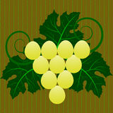 Seamless background with grape Stock Image