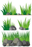 Seamless background with grass and rocks Royalty Free Stock Photography