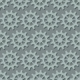 Seamless background with gray gears the wheels. Vector illustration. Endless background with gears the wheels. Vector illustration Royalty Free Stock Images