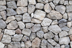 Seamless background gray granite stone wall Stock Image