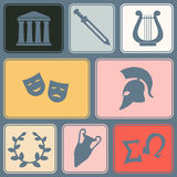 Seamless background with greece symbols Stock Photography