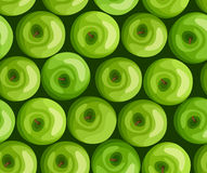 Seamless background with green apples. Stock Photography