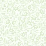 Seamless background of green in a folk style Stock Images