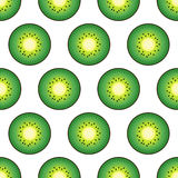 Seamless background with green kiwi. Cute vector kiwi pattern. Stock Photo