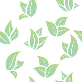 Seamless background green leaves Royalty Free Stock Images